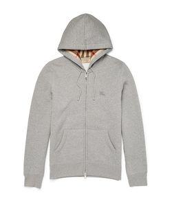 Burberry | Lim-Fit Cotton-Blend Jerey Zip-Up Hoodie