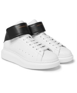 Alexander McQueen | Larry Exaggerated-Sole Leather High-Top Sneakers