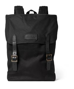 Filson | Ranger Leather-Trimmed Twill Backpack
