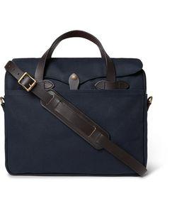 Filson | Original Leather-Trimmed Twill Briefcase