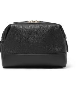 Globe-Trotter | Grained-Leather Wash Bag