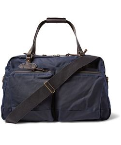 Filson | 48-Hour Leather-Trimmed Tin Cloth Duffle Bag