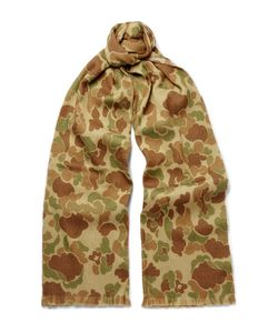 RRL | Camouflage-Print Wool Scarf
