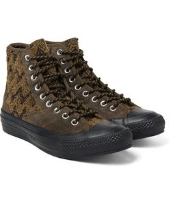Converse | Missoni All Star Chuck 70 Hiker Bouclé And Suede Sneakers