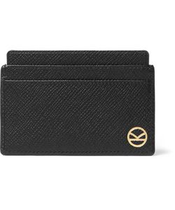 Kingsman | Smythson Panama Cross-Grain Leather Cardholder