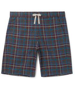 Oliver Spencer Loungewear | Checked Cotton Pyjama Shorts