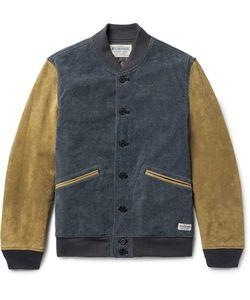 Neighborhood   -Dyed Cotton-Blend Corduroy And Uede Varity Jacket