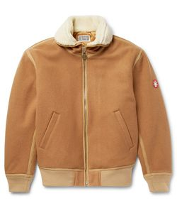 CAV EMPT | Faux Hearling-Trimmed Melton Wool-Blend Jacket