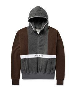 CAV EMPT | Colour-Block Fleece Half-Zip Hoodie