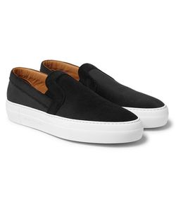 ARMANDO CABRAL | Bowery Embossed Velvet Slip-On Sneakers