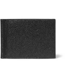 Thom Browne | Pebble-Grain Leather Wallet With Money Clip