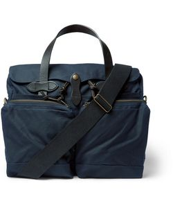 Filson | Leather-Trimmed Waxed-Cotton Canvas Briefcase