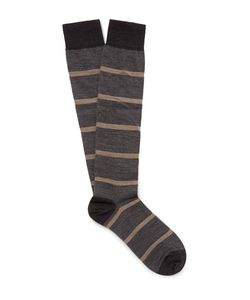 Marcoliani | Striped Merino Wool-Blend Over-The-Calf Socks
