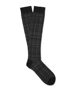 Marcoliani | Checked Jacquard-Knit Socks