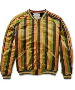 Kapital | Reversible Striped Cotton-Blend And Velvet Souvenir Jacket