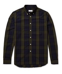 SATURDAYS NYC | Croby Button-Down Collar Checked Cotton Oxford Hirt