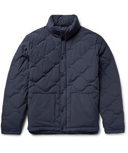 SATURDAYS NYC | Tyon Quilted Cotton-Blend Hooded Down Jacket