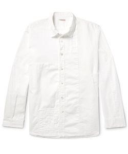 Kapital | Distressed Patchwork Cotton And Linen Shirt