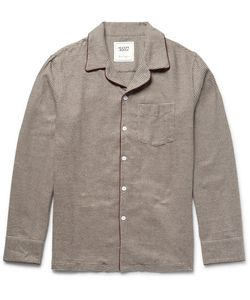 Sleepy Jones | David Coggin Houndtooth Cotton-Flannel Pyjama Hirt