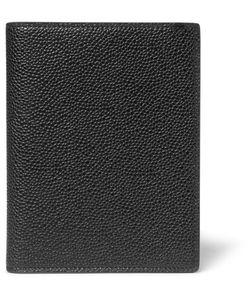 Thom Browne   Pebble-Grain Leather Passport Holder