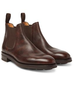 JOHN LOBB | Lawry Water-Resistant Burnished-Leather Chelsea Boots
