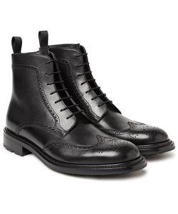 O'Keeffe | Felix Polished-Leather Wingtip Brogue Boots