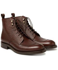 O'Keeffe | Algy Split-Toe Weatherproof Pebble-Grain Leather Boots