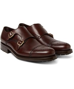 O'Keeffe | Bristol Weatherproof Leather Monk-Strap Shoes