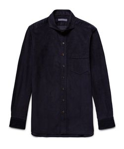 Thom Sweeney | Slim-Fit Cutaway-Collar Cotton-Corduroy Shirt