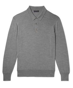 Thom Sweeney | Mélange Wool Polo Shirt