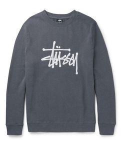 Stüssy | Ebroidered Fleece-Back Cotton-Blend Jersey Sweatshirt
