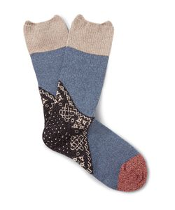 Kapital | Patterned Ribbed-Knit Socks