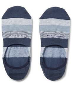Marcoliani | Invisible Touch Stretch Pima Cotton-Blend No-Show Socks