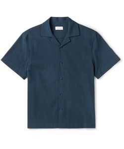 Fanmail | Camp-Collar Organic Cotton-Crepe Shirt