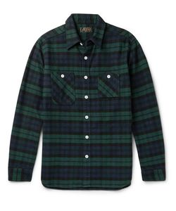 Beams Plus | Slim-Fit Checked Cotton-Flannel Shirt