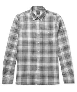 TODD SNYDER | Slim-Fit Button-Down Collar Checked Linen Shirt