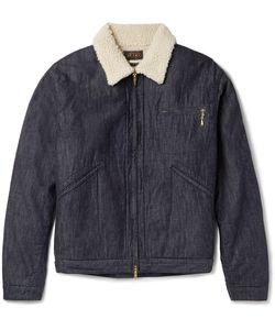 Beams Plus | Slim-Fit Faux Shearling-Lined Denim Jacket