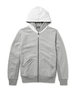 BERLUTI   Leather-Trimmed Loopback Cotton-Jersey Zip-Up Hoodie