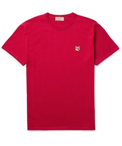 Maison Kitsune | Maison Kitsuné Fox-Embroide Cotton-Jersey T-Shirt