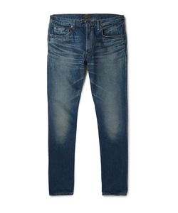 Beams Plus | Slim-Fit Washed Selvedge Denim Jeans
