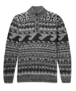 Faherty | Wave Jacquard-Knit Merino Wool And Alpaca-Blend Sweater