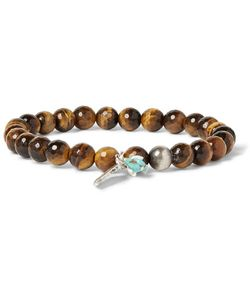 Peyote Bird | Tigers Eye Sterling And Turquoise Bracelet