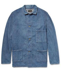 CHIMALA   Distressed Washed-Denim Chore Jacket