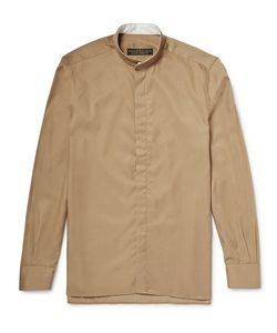 Freemans Sporting Club | Grandad-Collar Linen Shirt