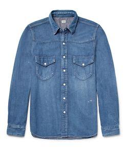 CHIMALA   Slim-Fit Denim Western Shirt