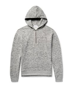 John Elliott | Mercer Mélange Fleece-Back Cotton-Jersey Half-Zip Hoodie Light
