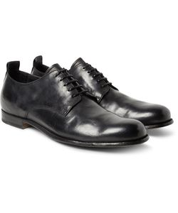 Officine Creative | Mono Distressed Leather Derby Shoes