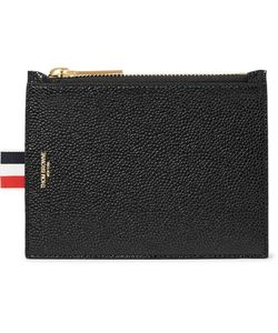 Thom Browne | Pebble-Grain Leather Coin Wallet