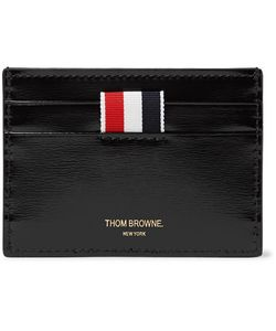 Thom Browne | Striped Patent-Leather Cardholder