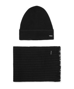 Hugo | Wool-Blend Beanie And Scarf Set